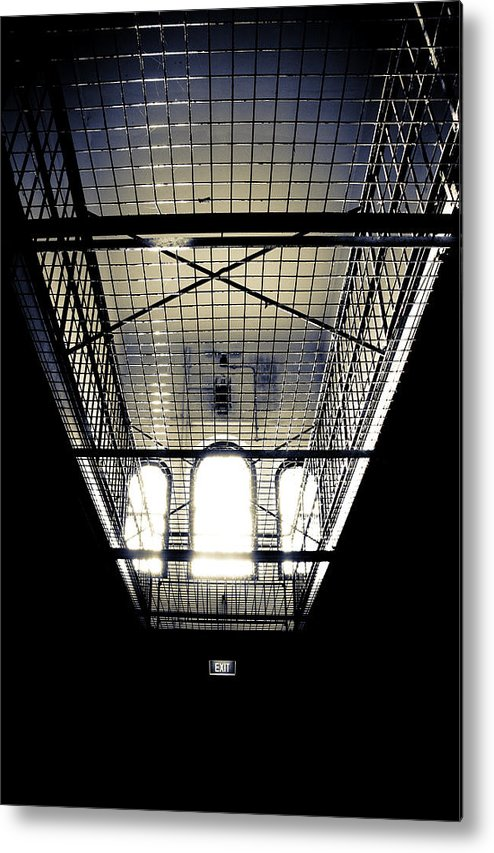 Sign Metal Print featuring the photograph No Exit by Kelly Jade King