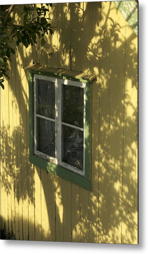 Building Exterior Metal Print featuring the photograph Norway, Sandvig, Shadow Of Tree On Wall by Keenpress