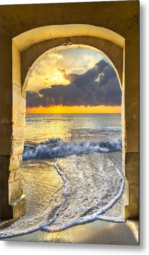 Clouds Metal Print featuring the photograph Ocean View by Debra and Dave Vanderlaan