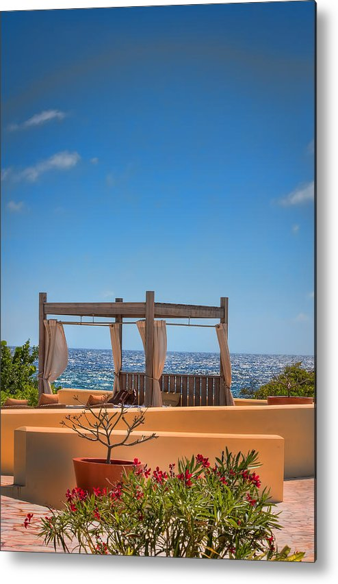 Curacao Metal Print featuring the photograph Ocean View by Nadia Sanowar