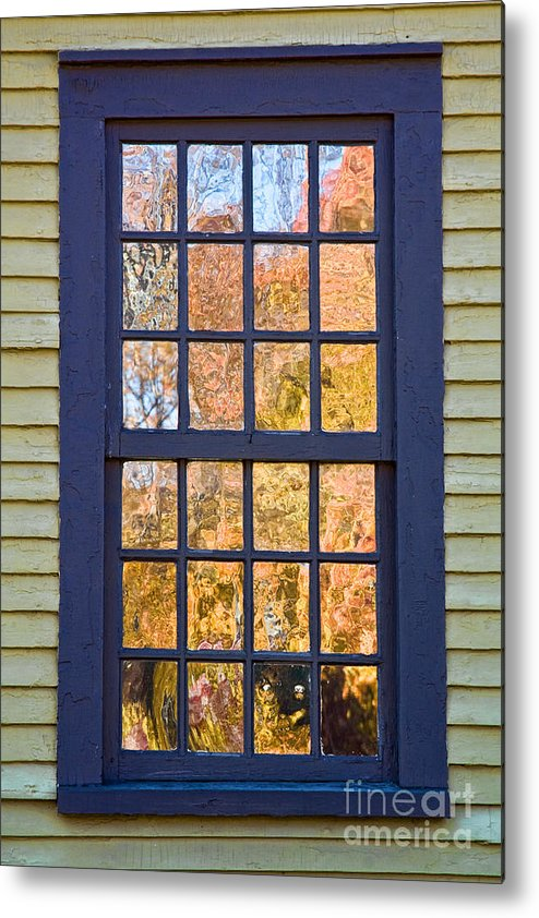 Colonial Metal Print featuring the photograph October Reflections 1 by Edward Sobuta