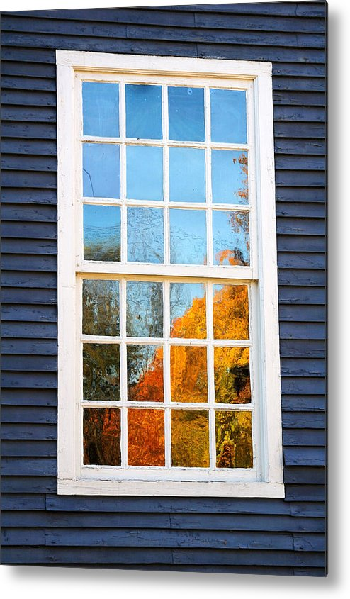 Colonial Metal Print featuring the photograph October Reflections 4 by Edward Sobuta