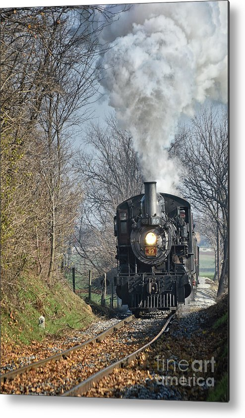 Steam Metal Print featuring the photograph Old 89 by Craig Leaper