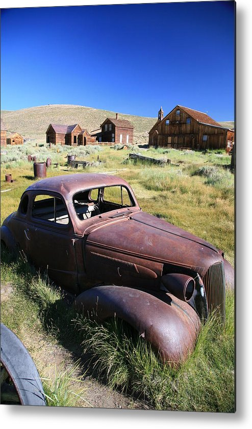 Bodie Metal Print featuring the photograph Old Car by Carl Hinkle