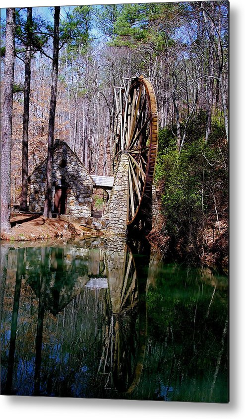 History Metal Print featuring the photograph Old Mill At Berry College by Johann Todesengel