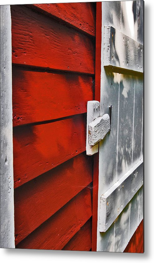 Old Red Schoolhouse Metal Print featuring the photograph Old Red Schoolhouse by Rebecca Fulweiler