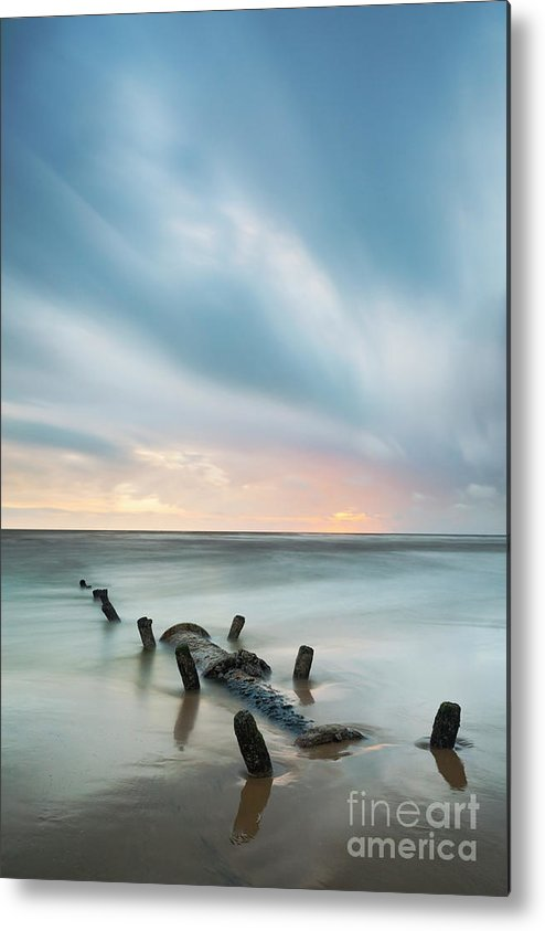 Sewage Pipe Metal Print featuring the photograph Old Sewage Pipe - Blackpool by Tony Higginson