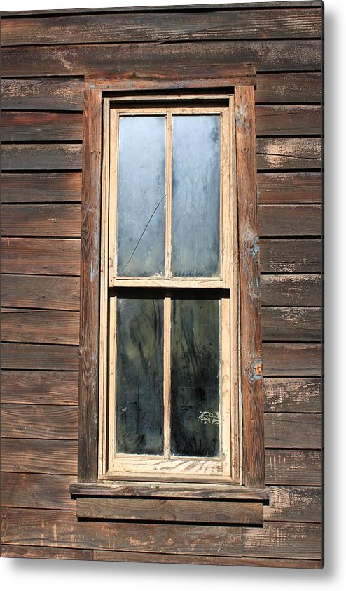 Rugged Buildings Metal Print featuring the photograph Old Western Window by Rose Webber Hawke
