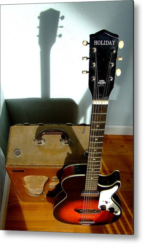 Vintage Guitar Metal Print featuring the photograph On Holiday by Everett Bowers
