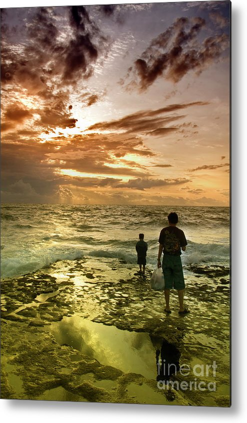 Metal Print featuring the photograph On The Beach by Charuhas Images