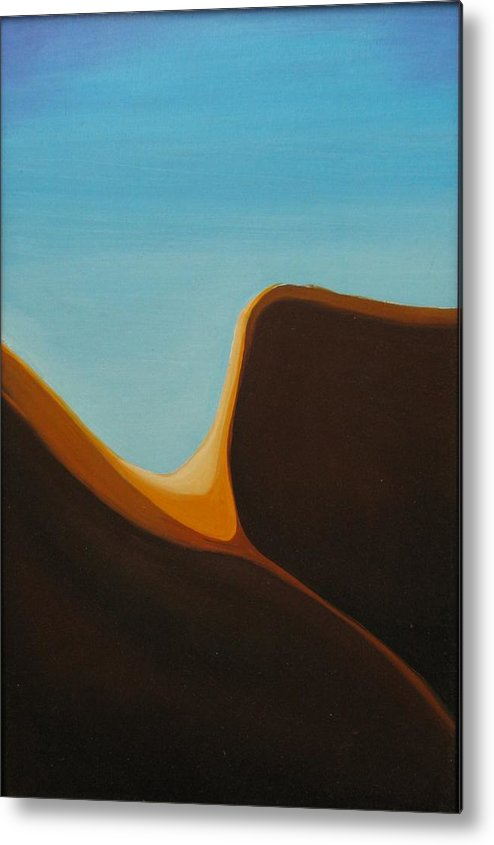 Landscape Metal Print featuring the painting Open by David McKee