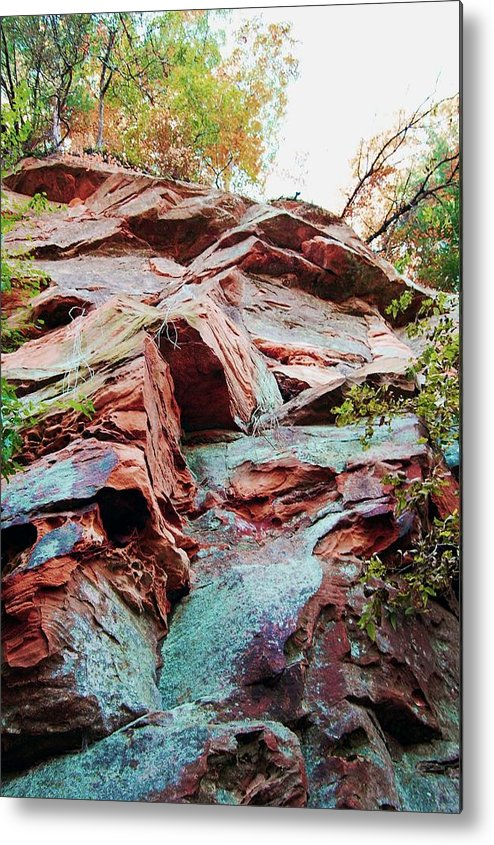 Sandstone Metal Print featuring the photograph Outcrop At Wildcat Den by Jame Hayes