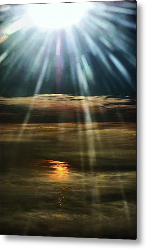 Flight Metal Print featuring the photograph Over Rivers Of Gold by Colin Shearer