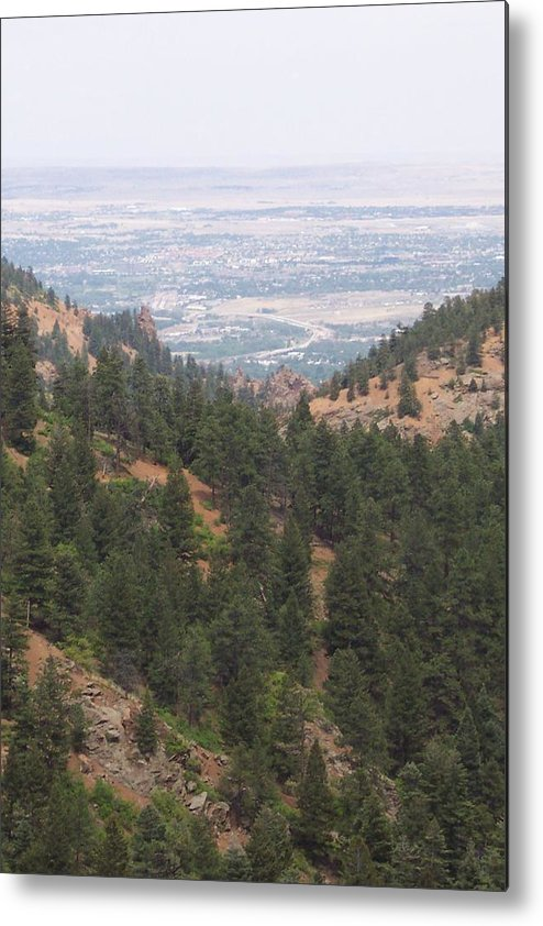 Landscape Metal Print featuring the photograph Over The Mountain Side by Sarah Bauer