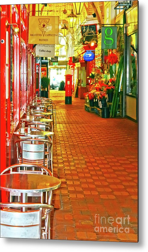 Oxford Metal Print featuring the photograph Oxford Covered Market Hdr by Terri Waters