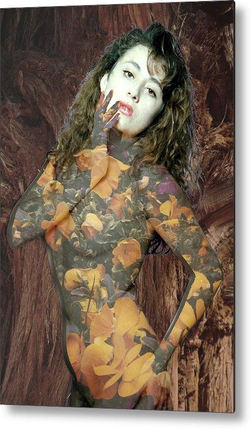 Model Metal Print featuring the photograph Painted Lady by Richard Henne