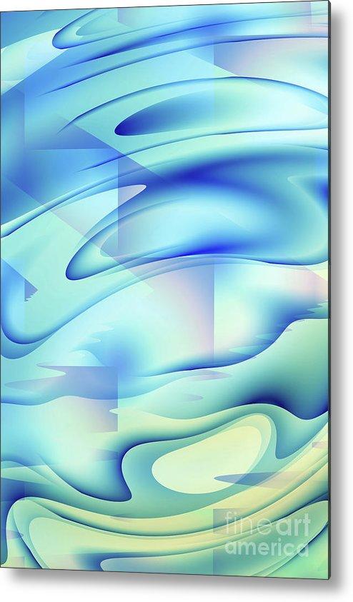 Pool Metal Print featuring the digital art Pastel Flow by John Edwards