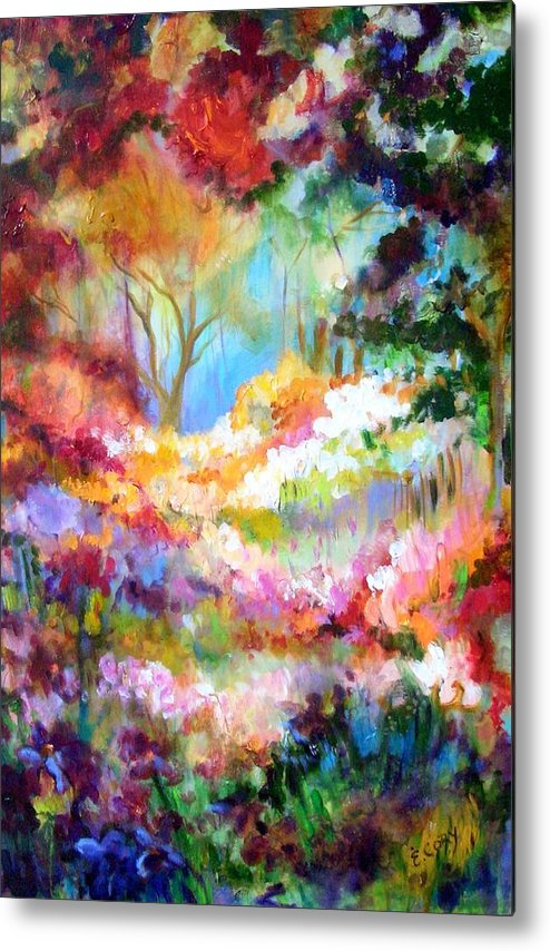 Landscape Metal Print featuring the painting Pastoral Scene by Elaine Cory