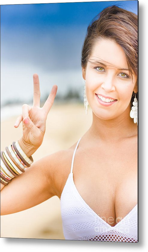 25-30 Metal Print featuring the photograph Peace Sign by Jorgo Photography - Wall Art Gallery