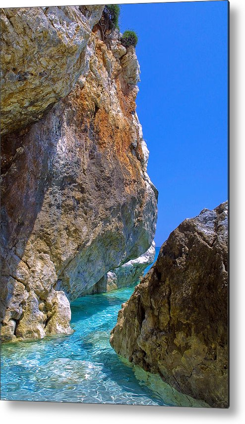 Greece Metal Print featuring the photograph Pelion Rocks by Neil Buchan-Grant