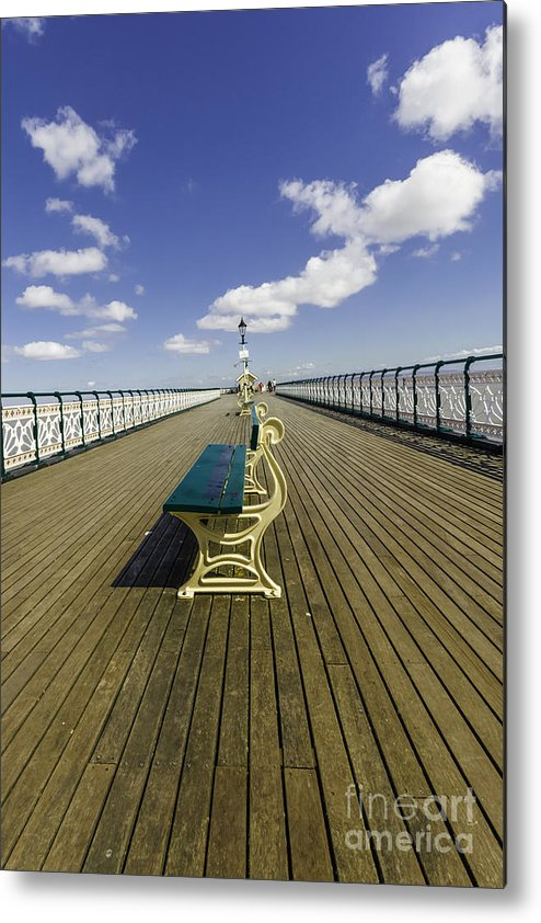 Penarth Pier Metal Print featuring the photograph Penarth Pier 9 by Steve Purnell
