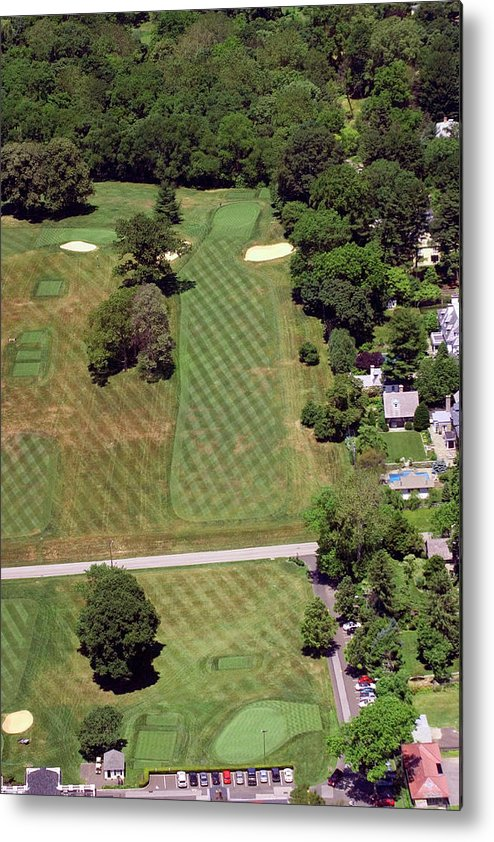 Philadelphia Cricket Club Metal Print featuring the photograph Philadelphia Cricket Club St Martins Golf Course 1st Hole 415 W Willow Grove Avenue Phila Pa 19118 by Duncan Pearson