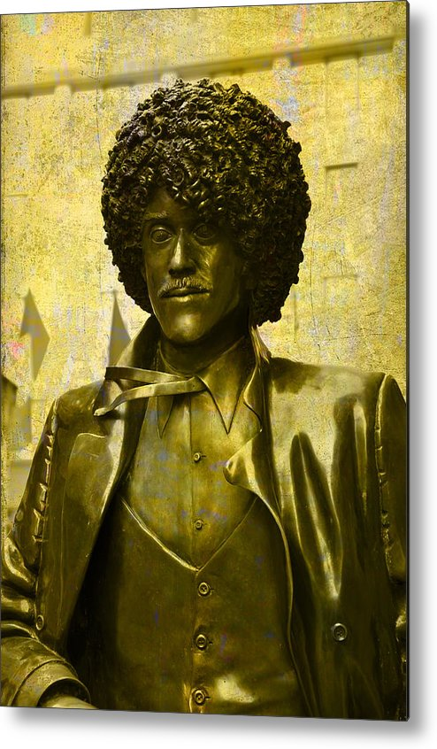 Philip Lynott Metal Print featuring the photograph Philip Lynott Statue by Martina Fagan