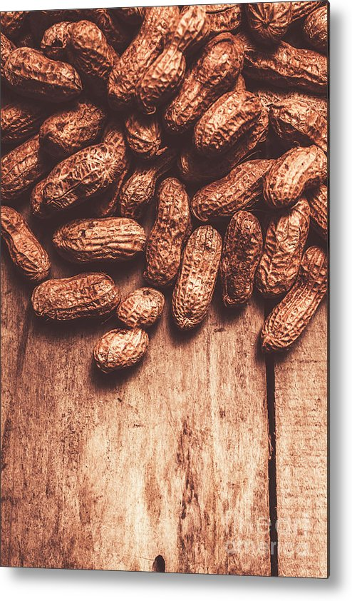 Kitchen Metal Print featuring the photograph Pile Of Peanuts Covering Top Half Of Board by Jorgo Photography - Wall Art Gallery