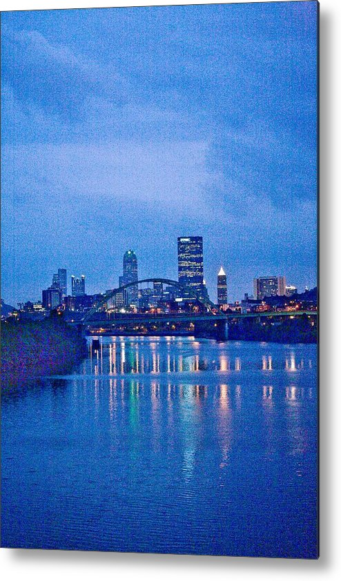 Pittsburgh Metal Print featuring the photograph Pittsburgh In Blue by John Toxey