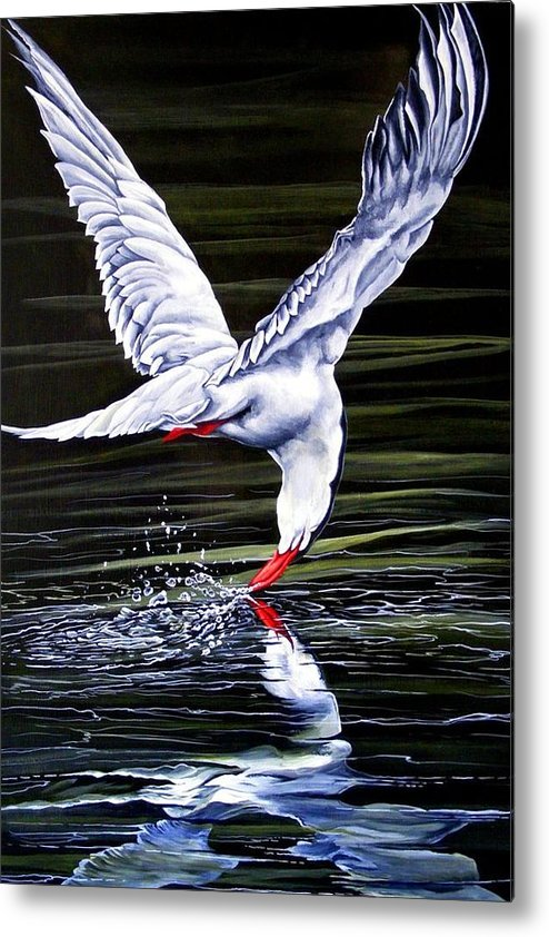 Bird Metal Print featuring the painting Poetic Motion by Donald Dean