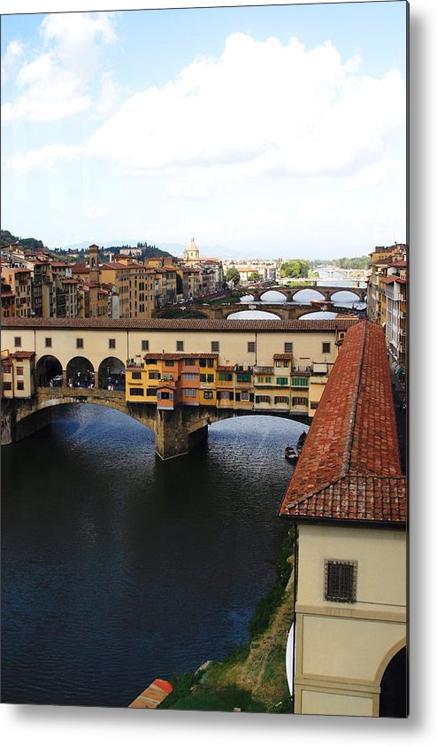 Florence Metal Print featuring the photograph Ponte Vechio Florence by Mathew Lodge