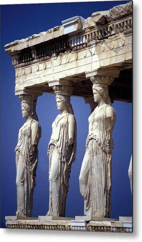 Staues Metal Print featuring the photograph Porch Of The Maidens by Carl Purcell