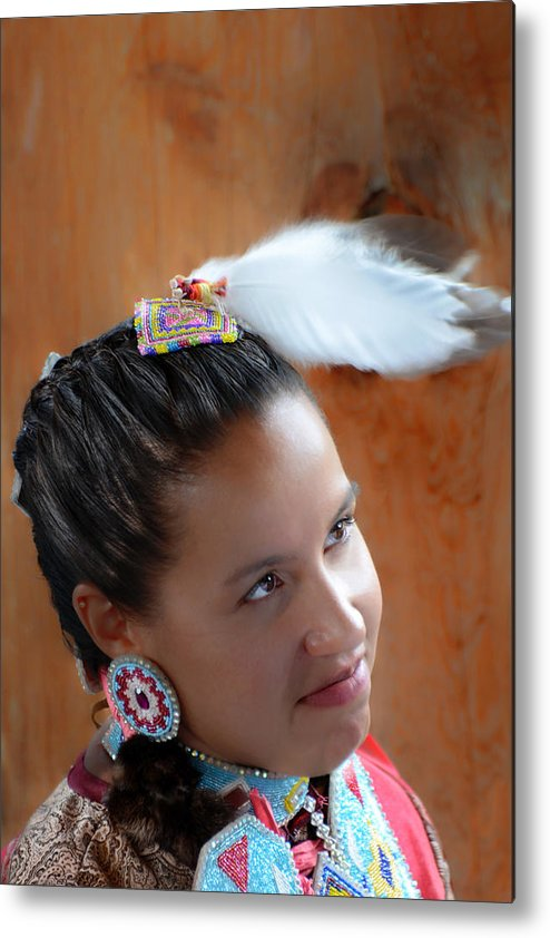 First Nations Metal Print featuring the photograph Portrait # 370 by Ed Hall