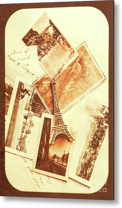 Postcards And Letters From The City Of Love Metal Print by Jorgo ...
