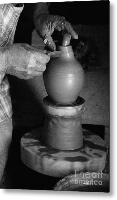 Azores Metal Print featuring the photograph Potter At Work by Gaspar Avila