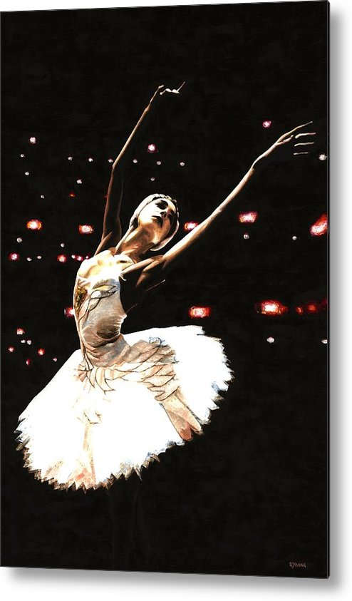 Prima Ballerina Metal Print featuring the painting Prima Ballerina by Richard Young