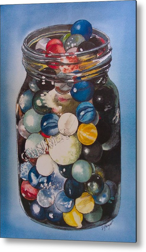 Marbles Metal Print featuring the painting Prized Collection by Victoria Heryet