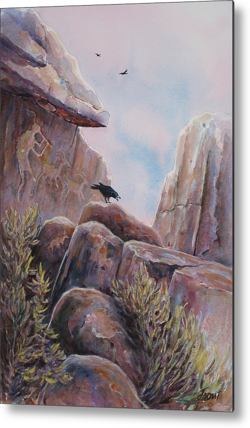 Ravens Metal Print featuring the painting Processional by Don Trout