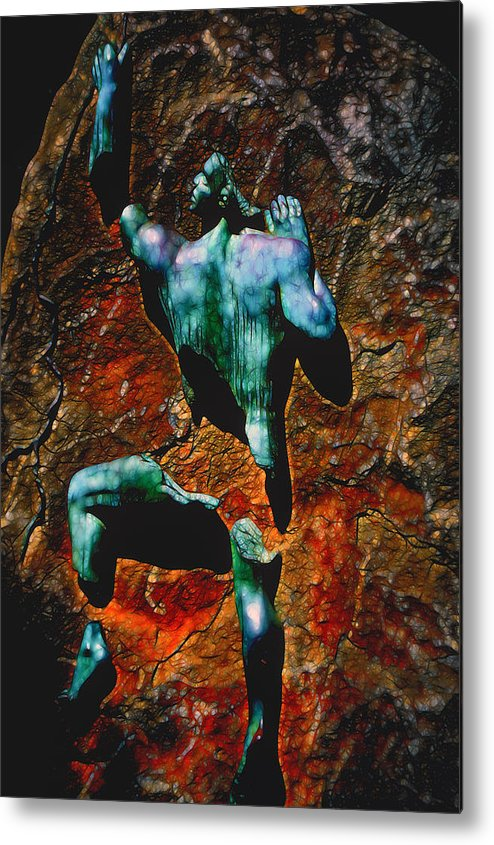 Prometheus Metal Print featuring the digital art Prometheus by Lynellen Nielsen