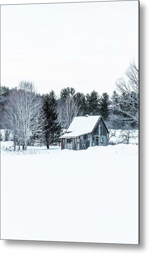Etna Metal Print featuring the photograph Remote Cabin In Winter by Edward Fielding