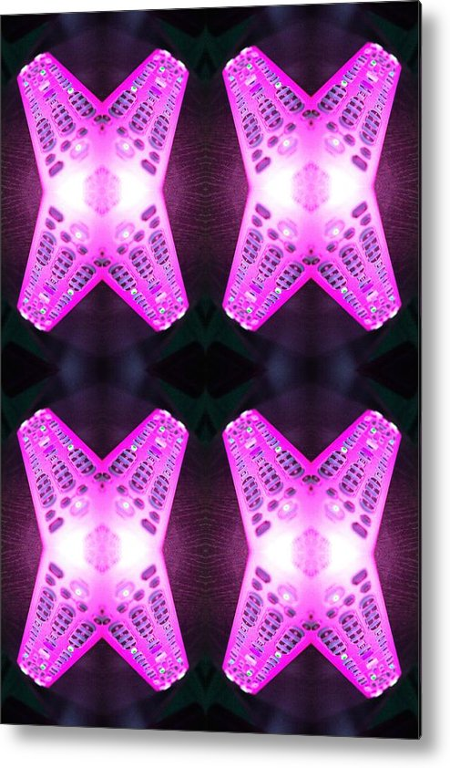 Tv Metal Print featuring the photograph Remote Madness Pink by Christina Martinez