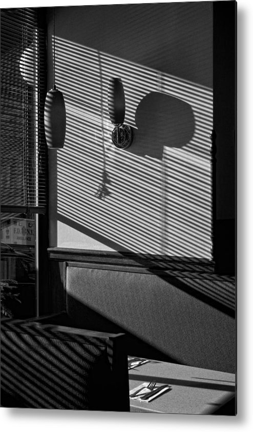 Shadows Metal Print featuring the photograph Restaurant Late Afternoon 2 by Robert Ullmann