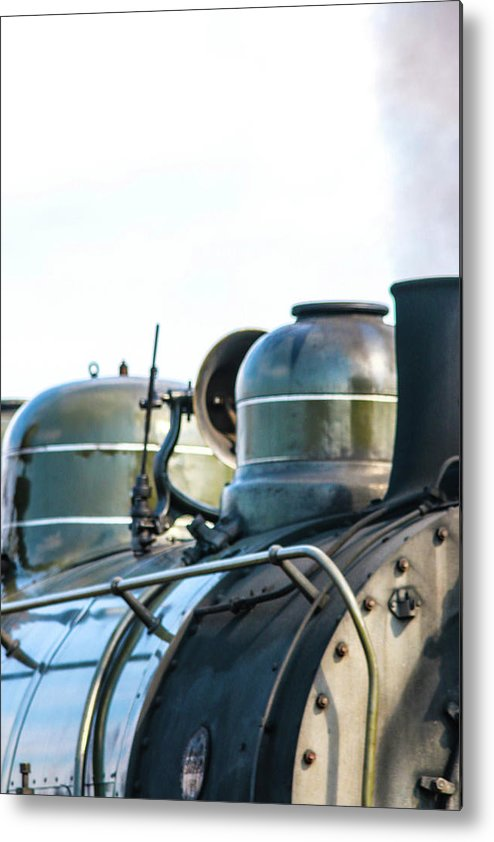 One Of Two Typical Switch Engines In The Steamtown Nhs Collection (the Other Is The Spang Metal Print featuring the photograph Ring That Bell Engine 26 Steamtown National Historical Site by William Rogers