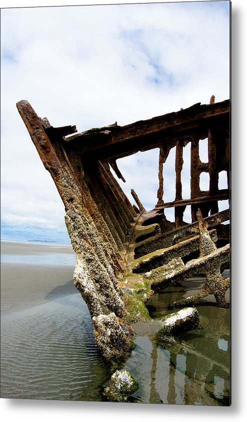 Shipwreck Metal Print featuring the photograph Ripple Effect by Jennifer Owen