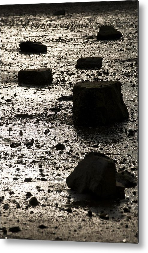 Rocks Metal Print featuring the photograph Rocks At Low Tide by Gene Sizemore