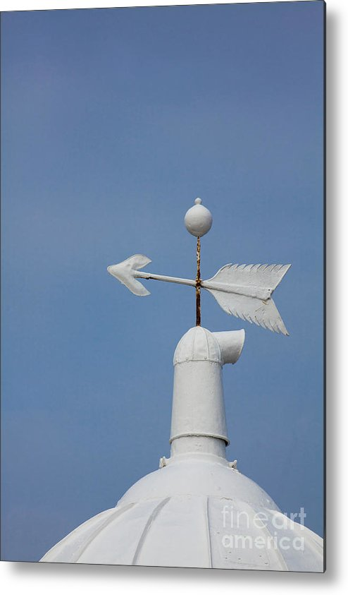 Rooftop Metal Print featuring the photograph Rooftop Of Lighthouse by Gabriela Insuratelu