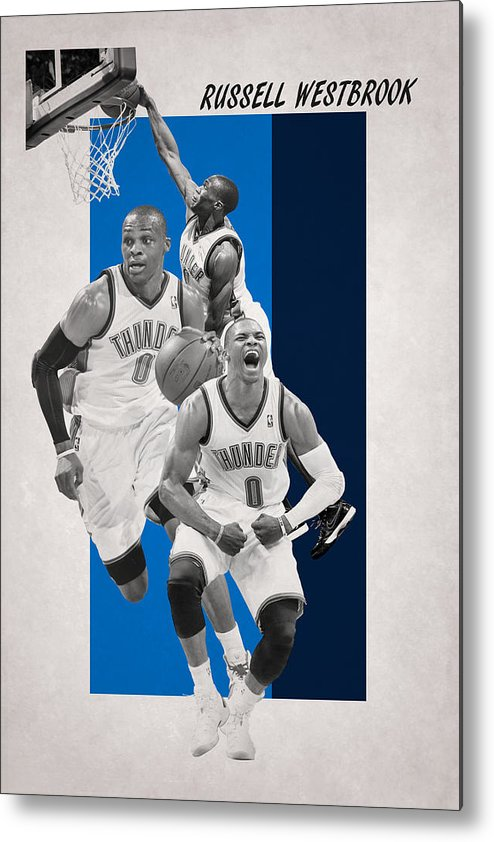 Westbrook Metal Print featuring the photograph Russell Westbrook Thunder by Joe Hamilton