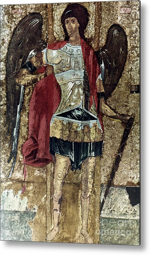 15th Century Metal Print featuring the photograph Russian Icons: Michael by Granger