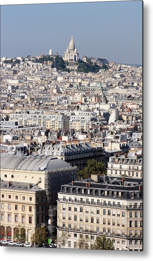 Sacre Coeur Metal Print featuring the photograph Sacre Coeur At The Summit Of Montmartre Paris by Pierre Leclerc Photography