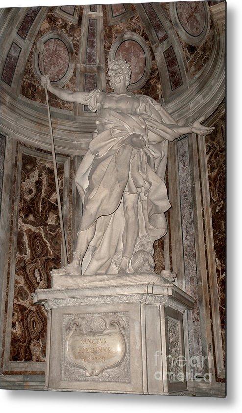 Saint Metal Print featuring the photograph Saint Longinus by Fabrizio Ruggeri